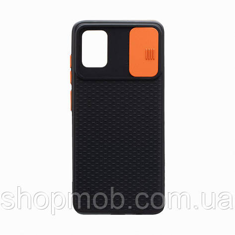 Чехол накладка для смартфонов (с защитой камеры) Non-slip Curtain for Samsung A51 Цвет Оранжевый, фото 2