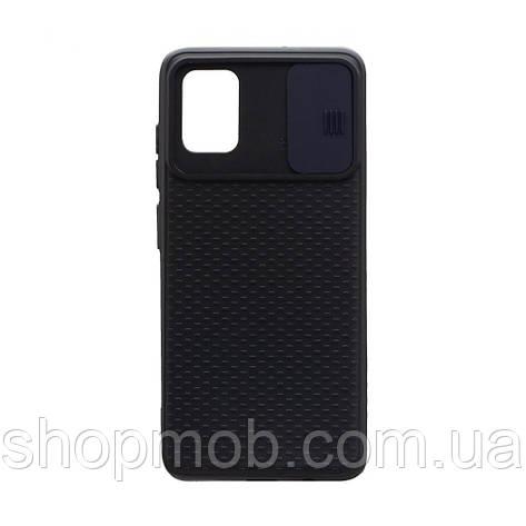 Чехол накладка для смартфонов (с защитой камеры) Non-slip Curtain for Samsung A51 Цвет Синий, фото 2
