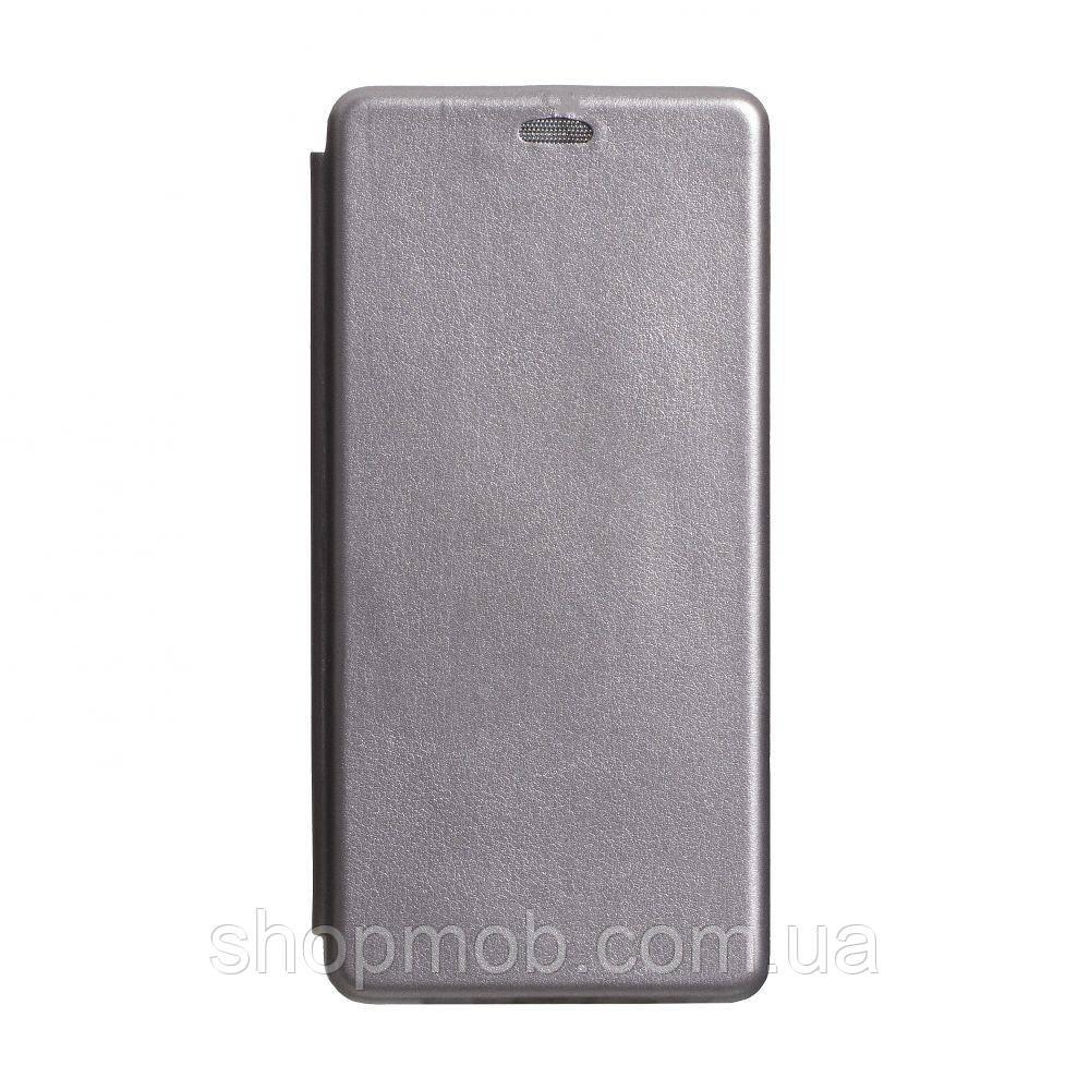 Чехол-книжка кожа Samsung S20 Ultra 2020 Цвет Серый