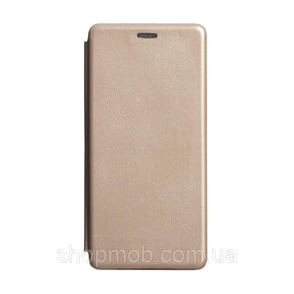 Чехол-книжка кожа Samsung S10 Lite 2020 Цвет Золотой