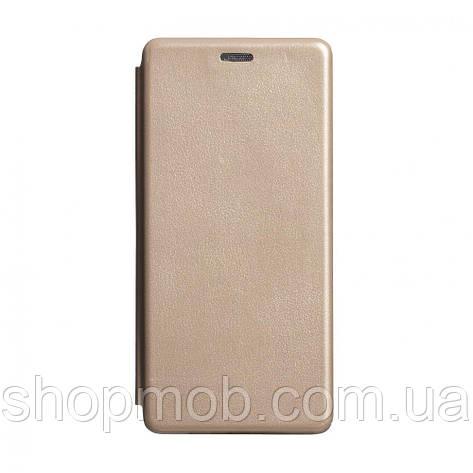 Чехол-книжка кожа Samsung S10 Lite 2020 Цвет Золотой, фото 2