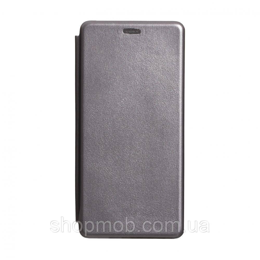 Чехол-книжка кожа Samsung S10 Lite 2020 Цвет Серый