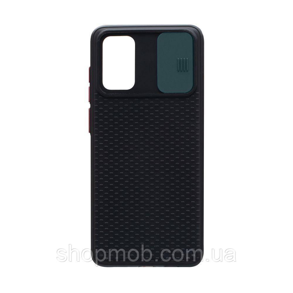 Чехол накладка для смартфонов (с защитой камеры) Non-slip Curtain for Samsung S20 Plus Цвет Зелёный