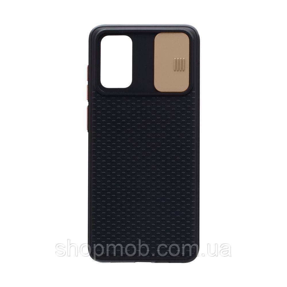 Чехол накладка для смартфонов (с защитой камеры) Non-slip Curtain for Samsung S20 Цвет Золотой