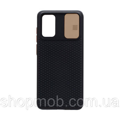 Чехол накладка для смартфонов (с защитой камеры) Non-slip Curtain for Samsung S20 Цвет Золотой, фото 2