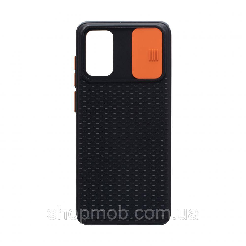 Чехол накладка для смартфонов (с защитой камеры) Non-slip Curtain for Samsung S20 Цвет Оранжевый