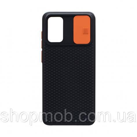 Чехол накладка для смартфонов (с защитой камеры) Non-slip Curtain for Samsung S20 Цвет Оранжевый, фото 2