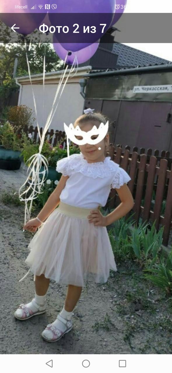 Праздничная пышная юбка для девочки