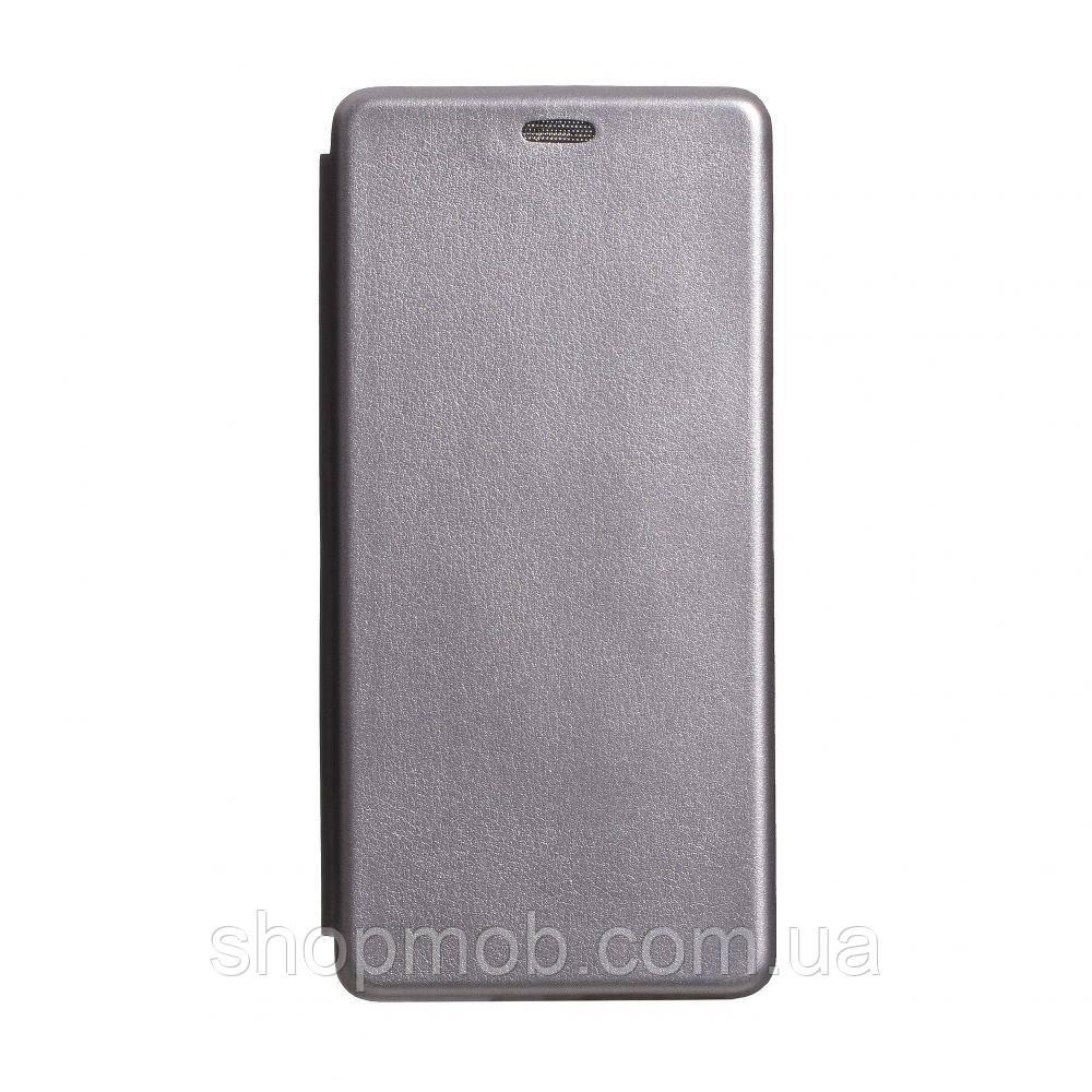 Чехол-книжка кожа Xiaomi Redmi K30 Цвет Серый