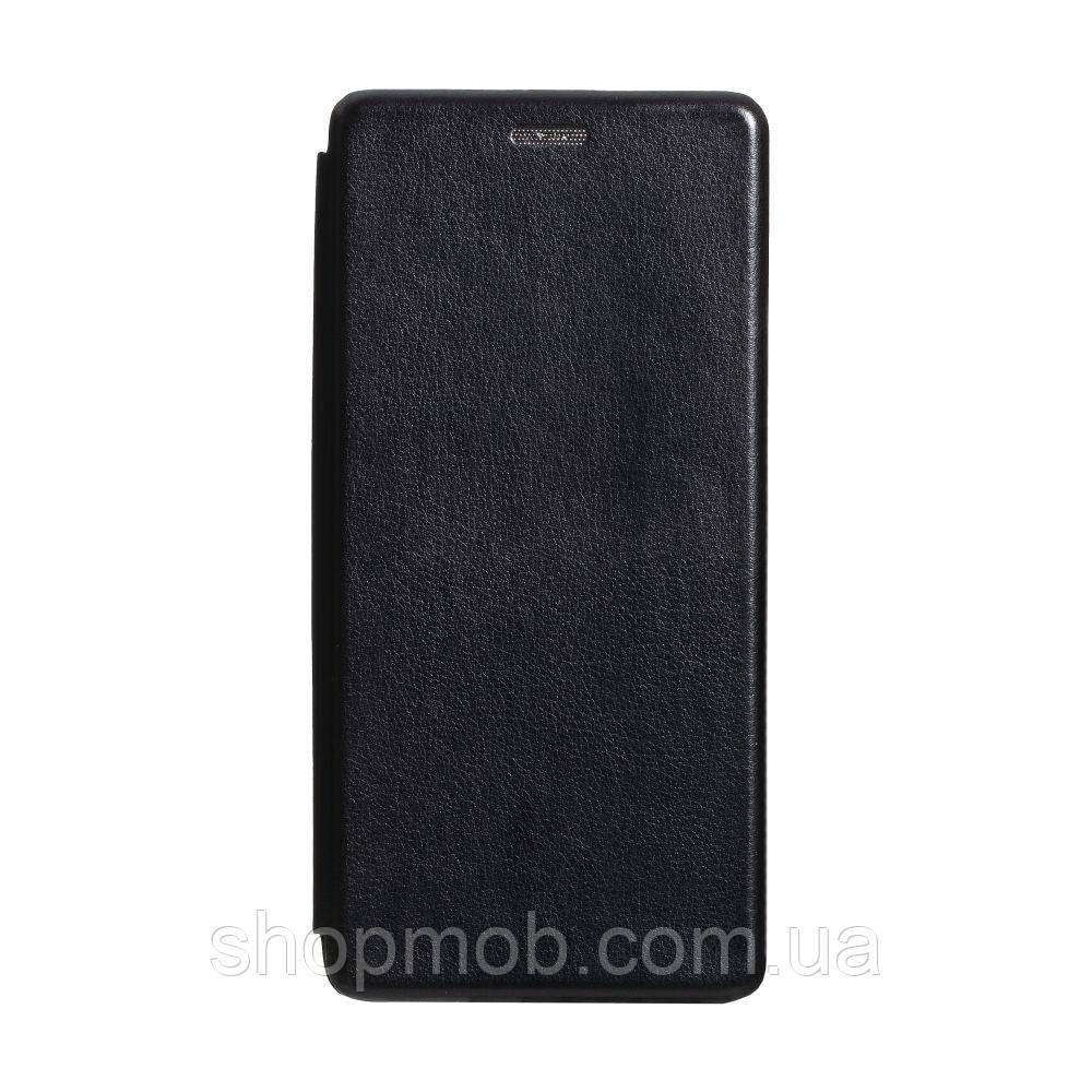 Чехол-книжка кожа Xiaomi Redmi K30 Цвет Чёрный