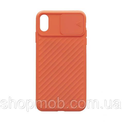 Чехол Сurtain Color for Iphone Xs Max Цвет Оранжевый, фото 2