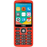 Кнопочный телефон синий с большим экраном и камерой на 2 сим карты Verico Style S283 Red