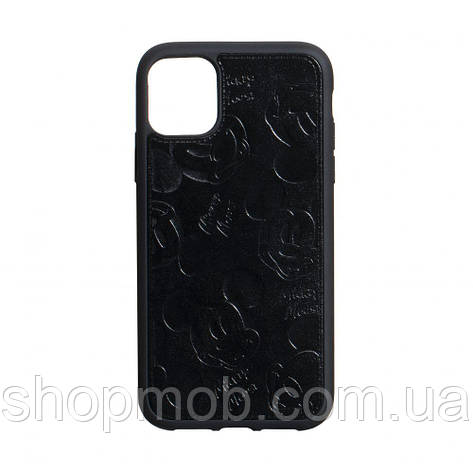 Чехол накладка для смартфонов (Микимаус под кожу) Mickey for Apple Iphone 11 Pro Цвет Чёрный, фото 2