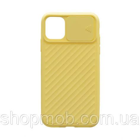 Чехол Сurtain Color for Iphone 11 Pro Max Цвет Жёлтый, фото 2