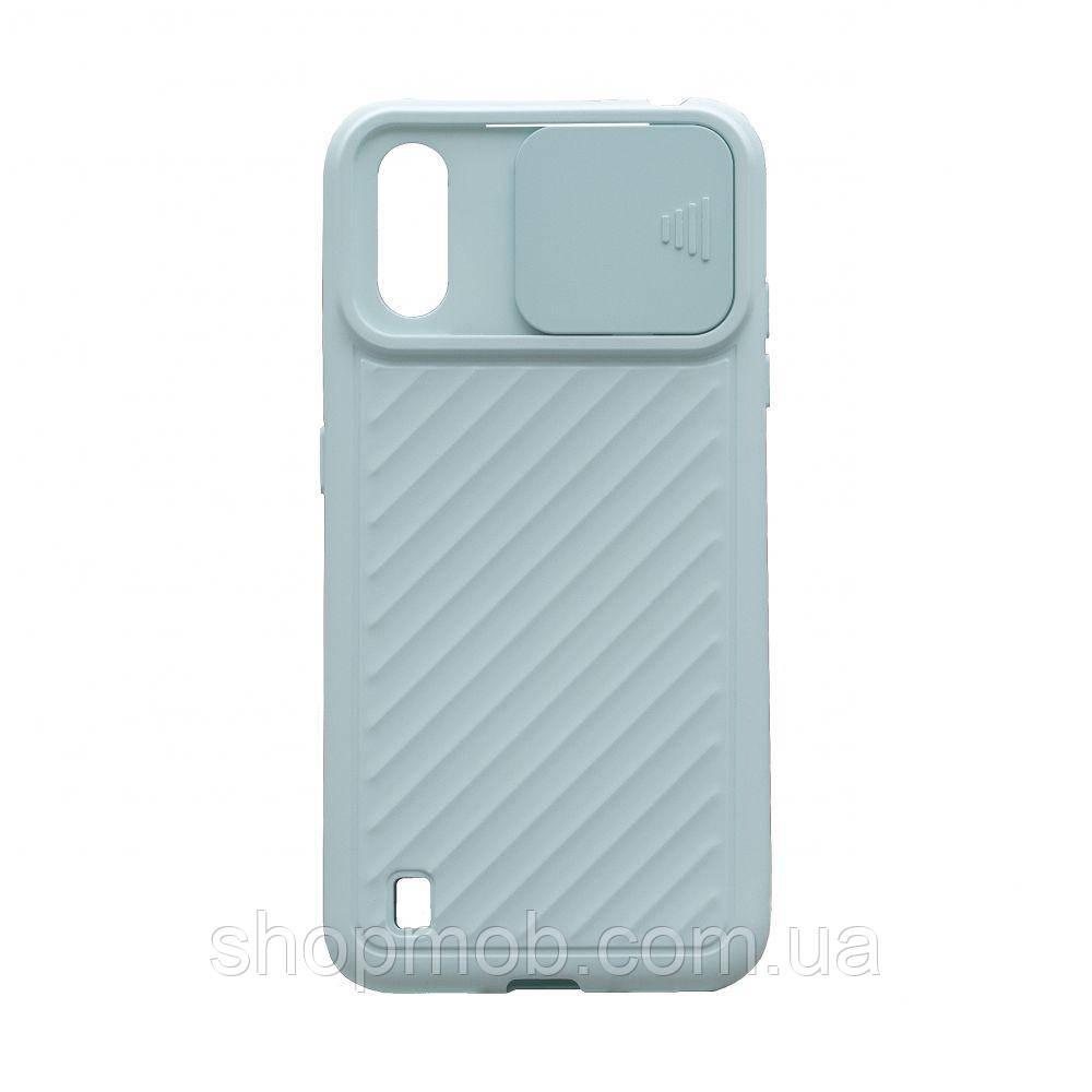 Чехол Сurtain Color for Samsung A01 Цвет Голубой
