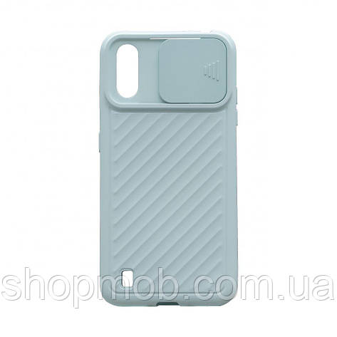 Чехол Сurtain Color for Samsung A01 Цвет Голубой, фото 2