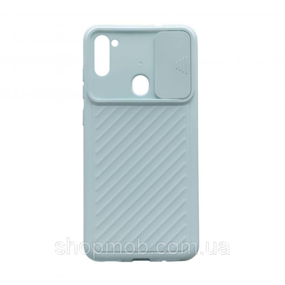 Чехол Сurtain Color for Samsung A11/M11 Цвет Голубой