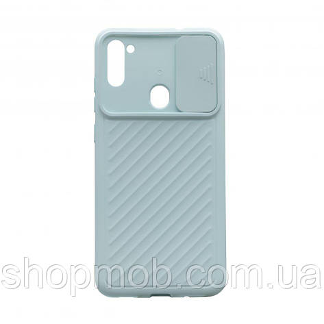 Чехол Сurtain Color for Samsung A11/M11 Цвет Голубой, фото 2
