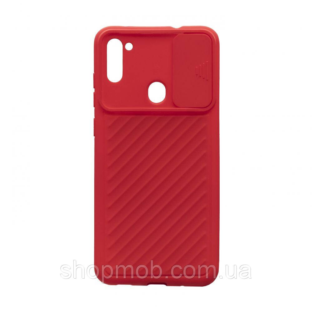 Чехол Сurtain Color for Samsung A11/M11 Цвет Красный