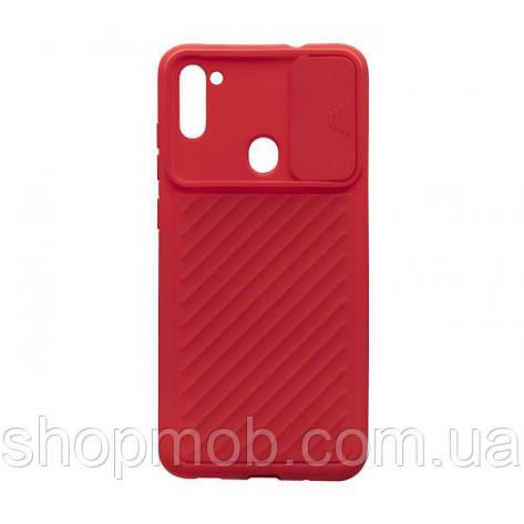 Чехол Сurtain Color for Samsung A11/M11 Цвет Красный, фото 2