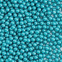 Кулькі цукрові d=3мм 50 г МЕТАЛІК, блакитні