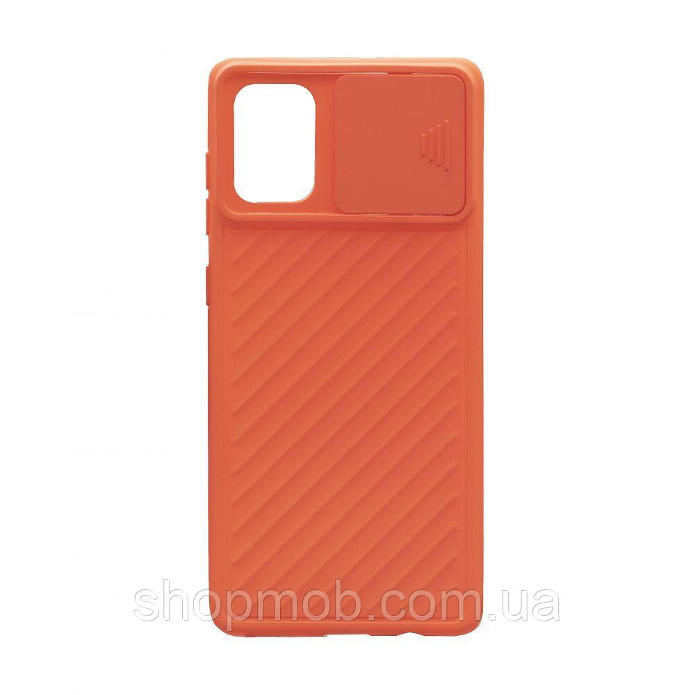 Чехол Сurtain Color for Samsung A71 Цвет Оранжевый