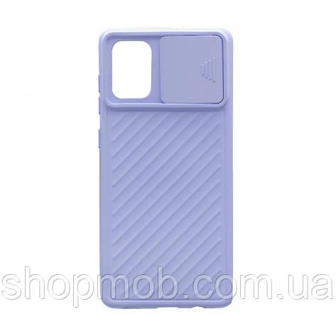Чехол Сurtain Color for Samsung A71 Цвет Сиреневый, фото 2