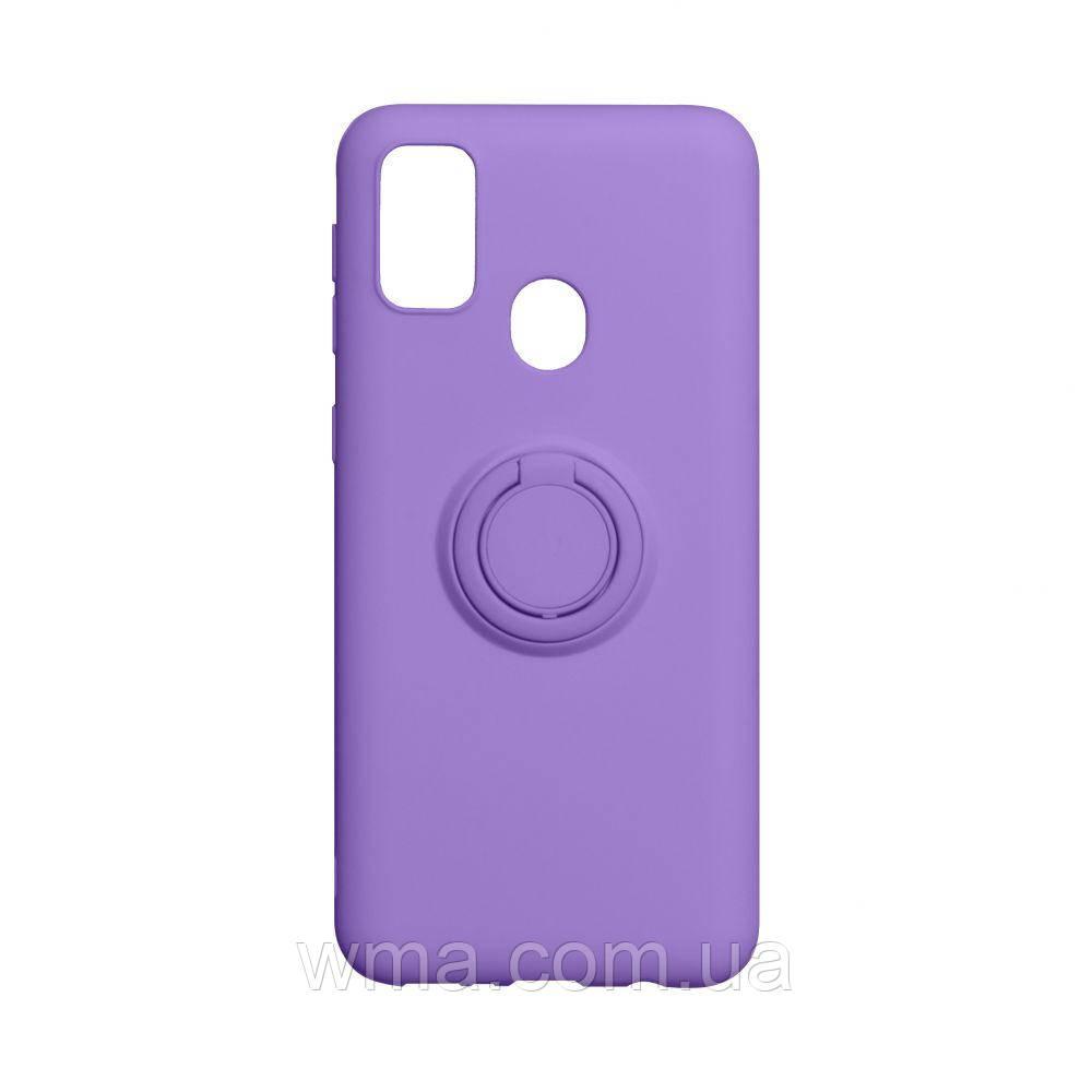 Чехол Ring Color for Samsung M21 Цвет Фиолетовый
