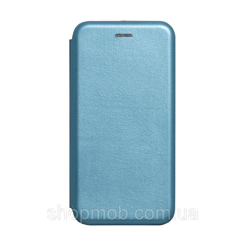 Чехол-книжка кожа Realme 5 Pro Цвет Голубой