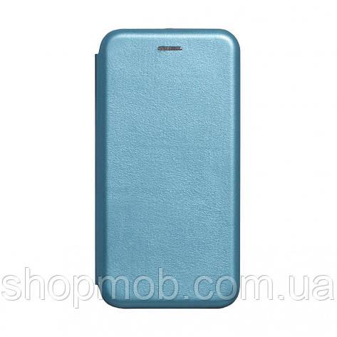 Чехол-книжка кожа Realme 5 Pro Цвет Голубой, фото 2