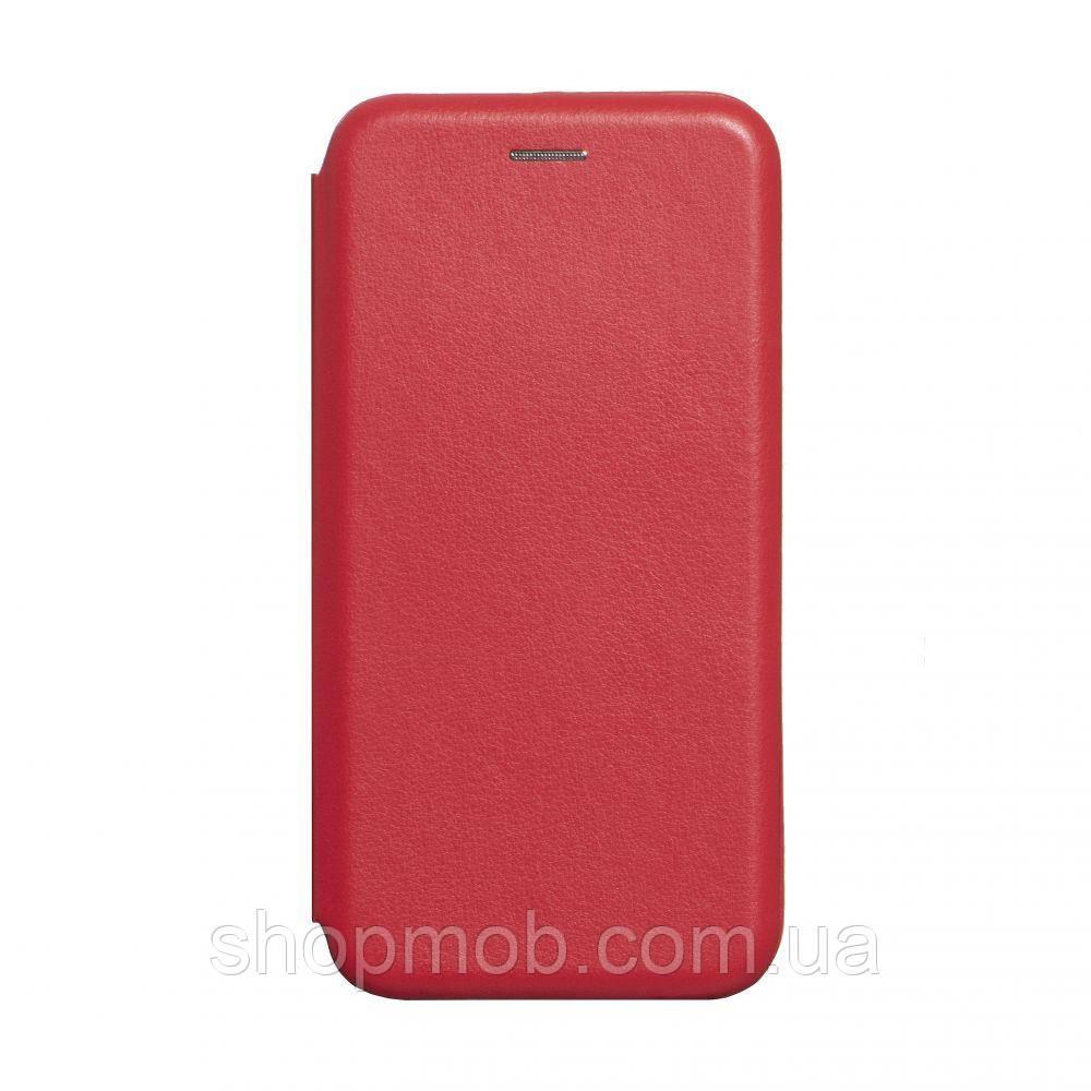 Чехол-книжка кожа Realme X2 Pro Цвет Красный