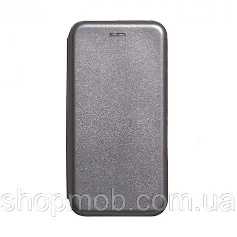 Чехол-книжка кожа Realme XT Цвет Серый, фото 2