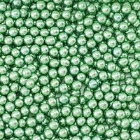 Кулькі цукрові d=3мм 50г МЕТАЛІК, зелені
