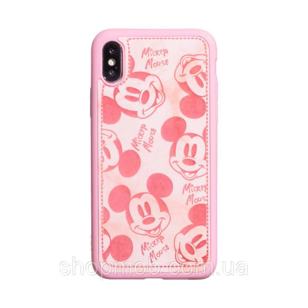 Чехол Mickey Color print for Apple Iphone X/Xs Цвет Розовый