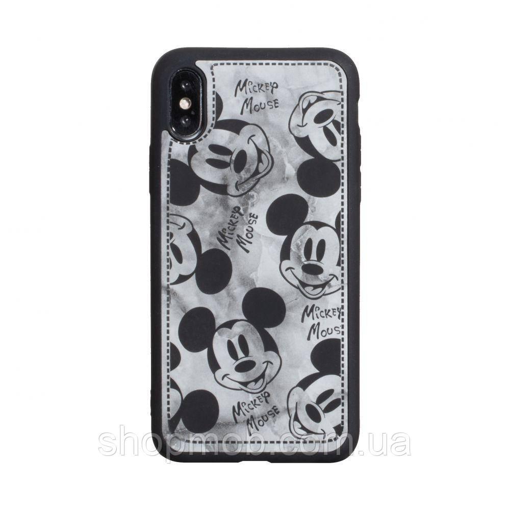 Чехол Mickey Color print for Apple Iphone X/Xs Цвет Чёрный