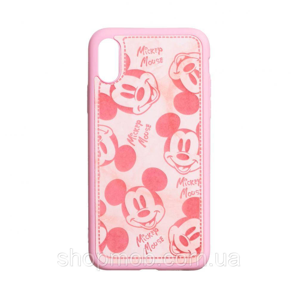 Чехол Mickey Color print for Apple Iphone Xs Max Цвет Розовый