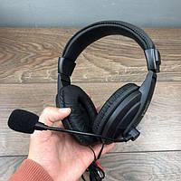 Накладные проводные наушники Pisc 750 с гарнитурой микрофоном для компьютера ноутбука пк пс4 ps4 компьютерные
