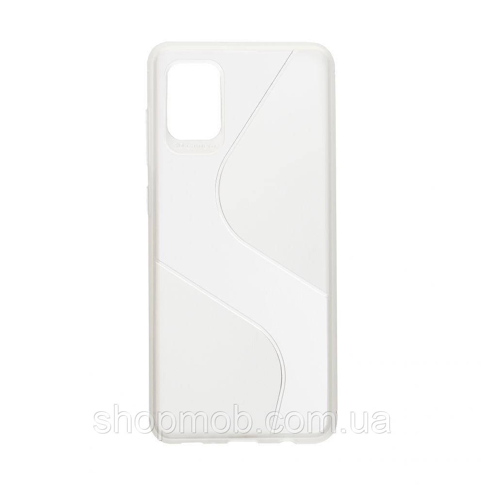 Чехол Totu Clear Wave for Samsung A31 Цвет Белый
