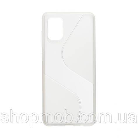 Чехол Totu Clear Wave for Samsung A31 Цвет Белый, фото 2