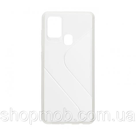Чехол Totu Clear Wave for Samsung A21s Цвет Белый, фото 2