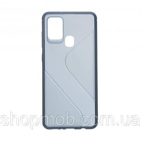 Чехол Totu Clear Wave for Samsung A21s Цвет Синий, фото 2