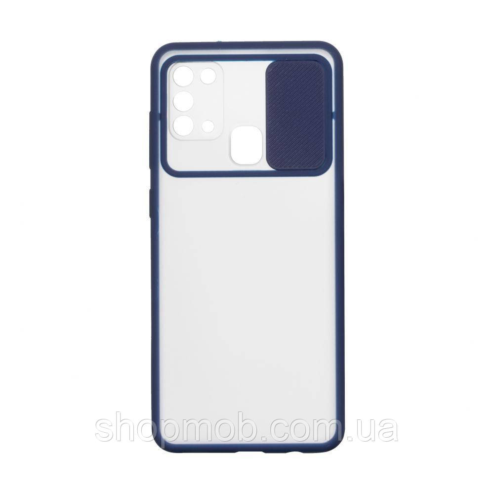 Чехол Totu Curtain for Samsung M31 Цвет Синий
