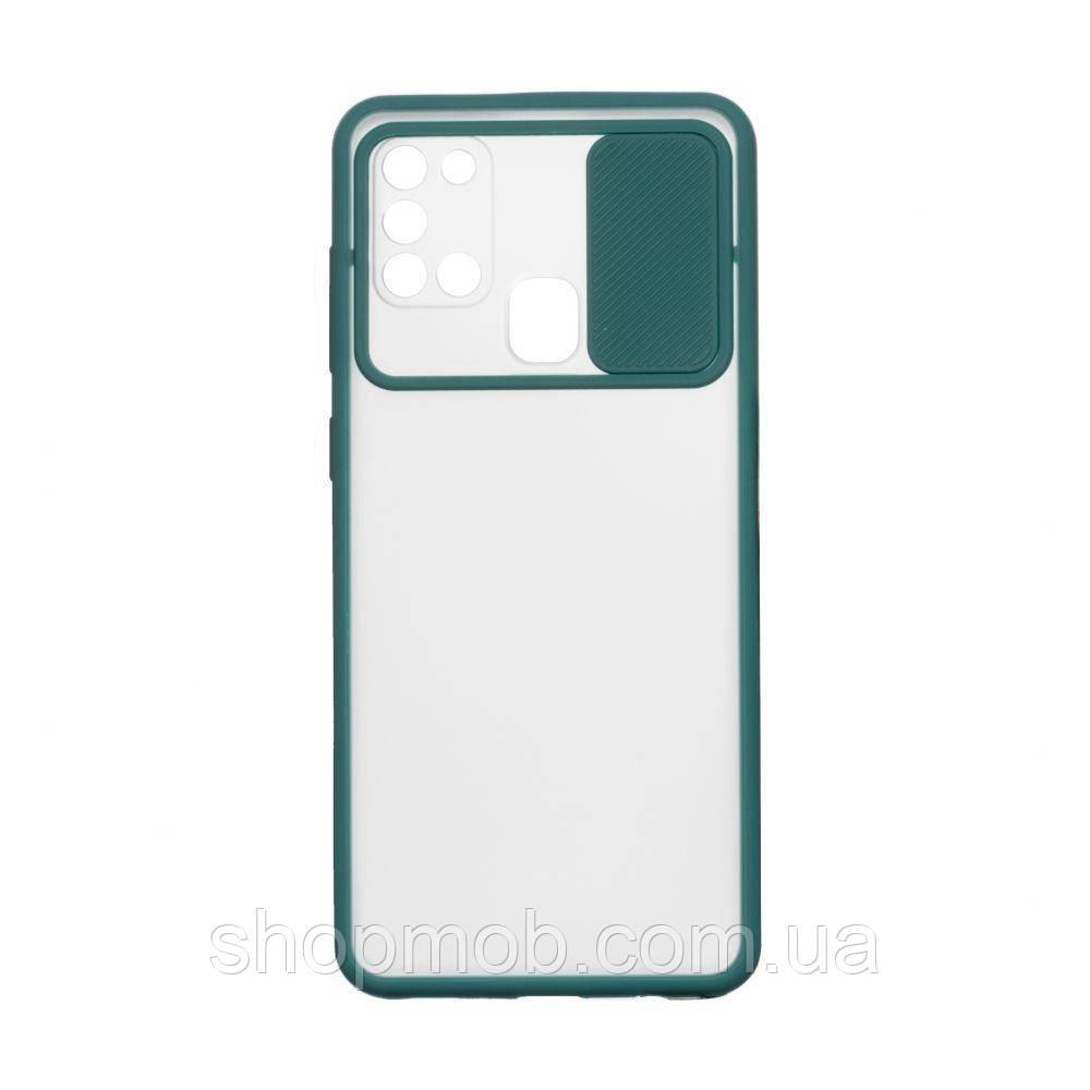 Чехол Totu Curtain for Samsung A21s Цвет Зелёный