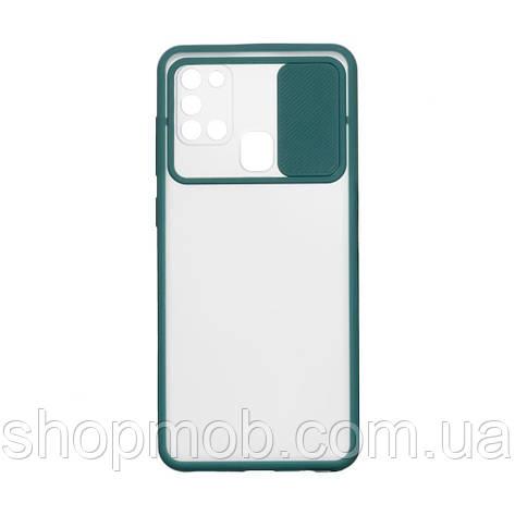 Чехол Totu Curtain for Samsung A21s Цвет Зелёный, фото 2