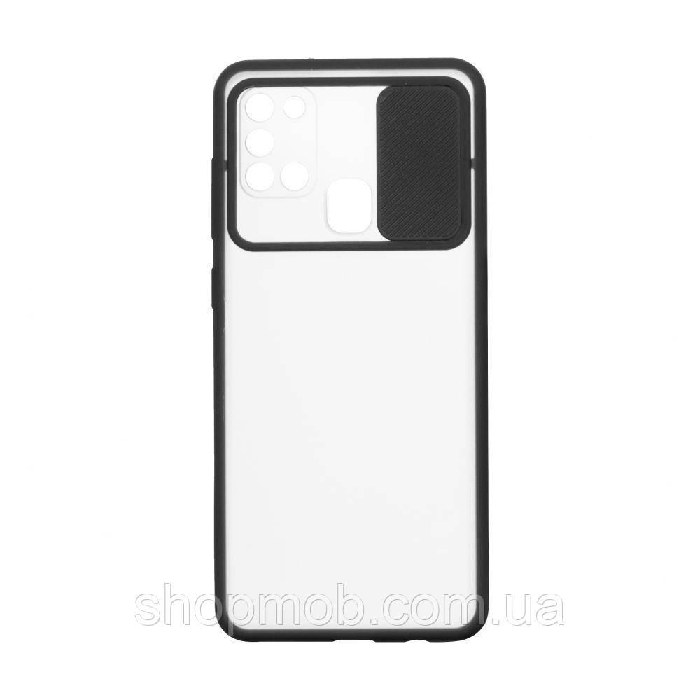 Чехол Totu Curtain for Samsung A21s Цвет Чёрный