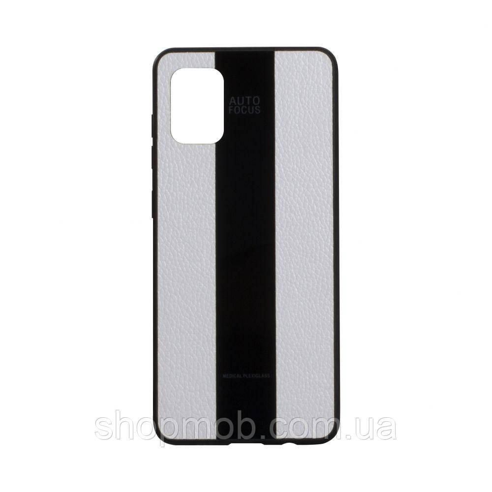 Чехол Combi Leather for Samsung A31 Цвет 09, White