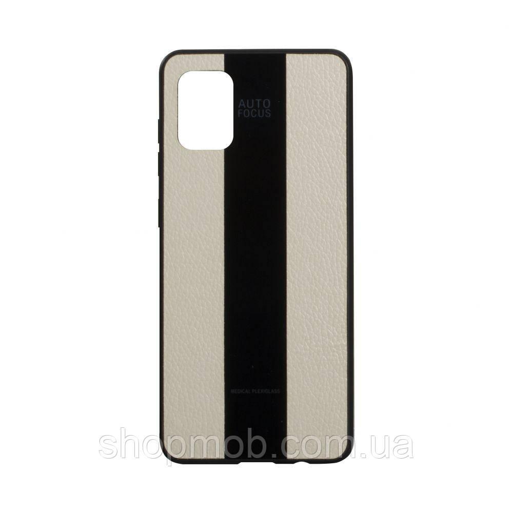 Чехол Combi Leather for Samsung A51 Цвет 10, Beige