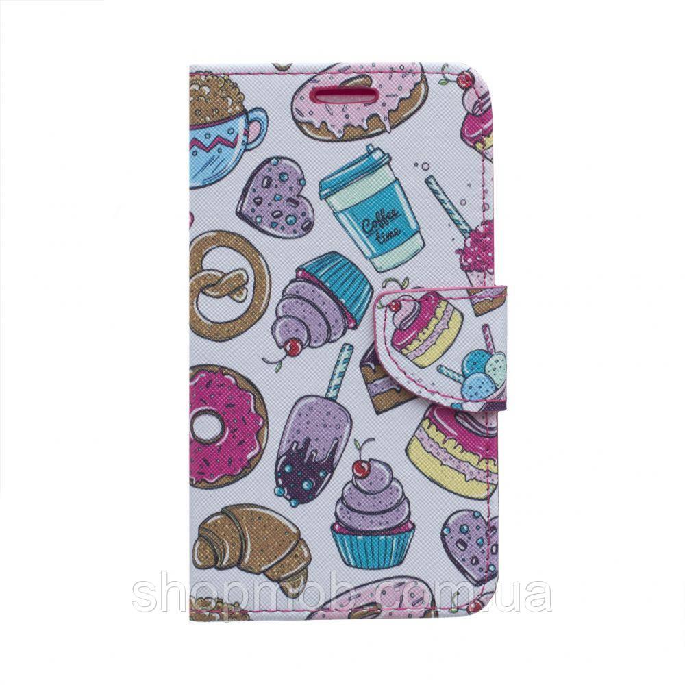 """Чехол-книжка Trend Pictures 5,5"""" Цвет Пончик"""