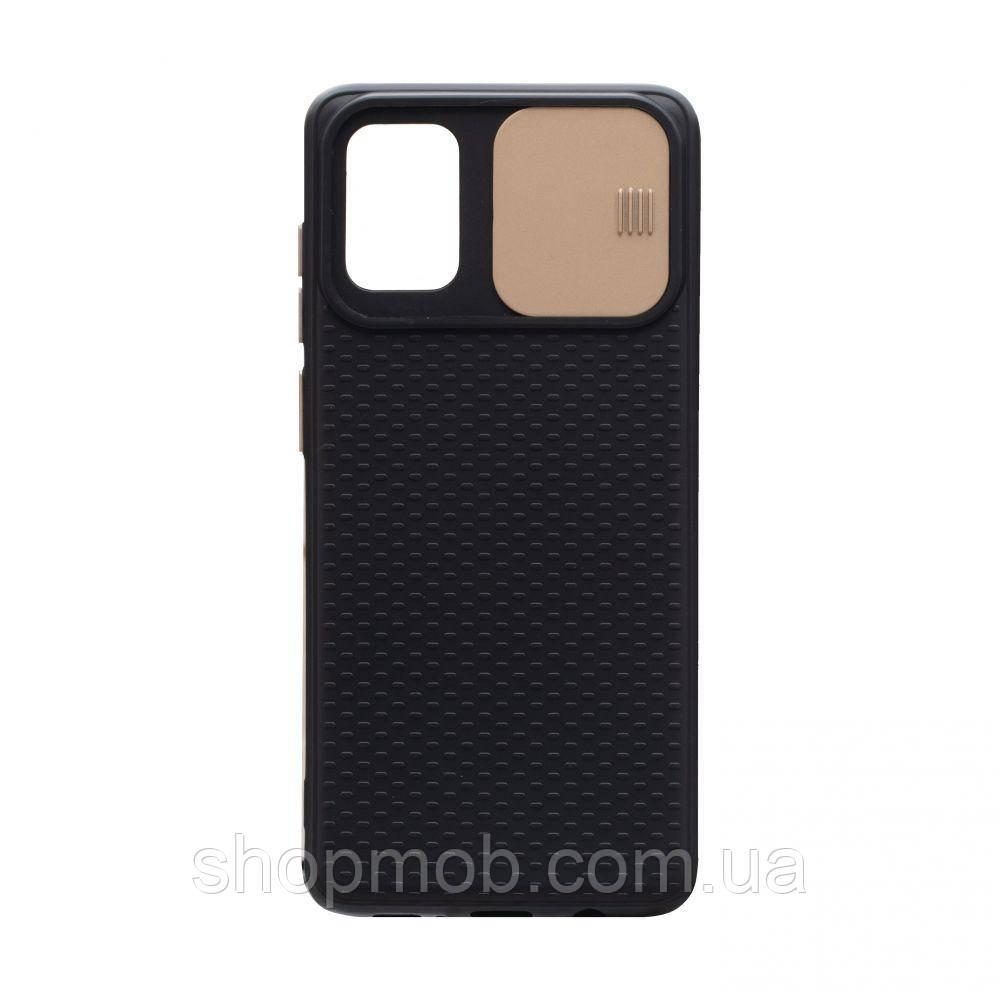 Чехол накладка для смартфонов (с защитой камеры) Non-slip Curtain for Samsung A71 Цвет Золотой
