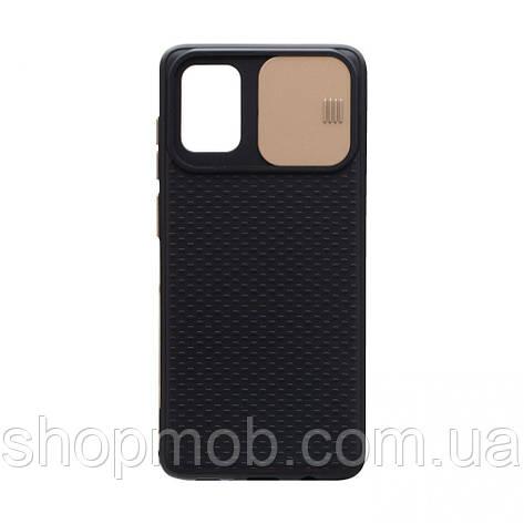 Чехол накладка для смартфонов (с защитой камеры) Non-slip Curtain for Samsung A71 Цвет Золотой, фото 2